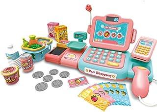スーパーマーケットのレジ玩具ガールプレイハウスガール誕生日ギフト赤ちゃん3-5歳シミュレーションレジ教育玩具