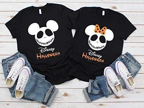 Disney Halloween Shirts For Kids.Amazon Com Halloween Jack Skellington Nightmare Before Christmas Mickey Minnie Ears Family Matching Vacation Shirts Tees Tops Men Women Kids Handmade
