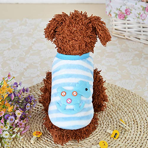 LWWOG Dog sweater Pet clothes autumn and winter dog clothes striped home clothes Warm Soft Comfortable Breathable
