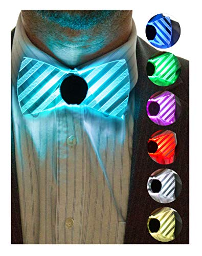 Neon Nightlife Light Up Bow Tie, 6 Color Selection Modes, LED