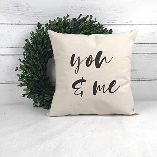 Atwo3242de - Funda de almohada para regalo de boda, funda de almohada para casa de granja, fundas de almohada con palabras, fundas de almohada de 18 x 18 pulgadas, funda de almohada de 16 x 16 pulgadas