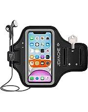 iPhone 12, 12 Pro, 11, XR Armband, JEMACHE Gym Hardlopen Workouts Arm Band Case voor iPhone XR, 11, 12, 12 Pro met Kaarthouder (Zwart)