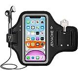 iPhone 12, 12 Pro, 11, XR Armband, JEMACHE Gym Laufen Running Sportarmband für iPhone XR, 11, 12, 12 Pro mit Schlüssel Halter (Schwarz)