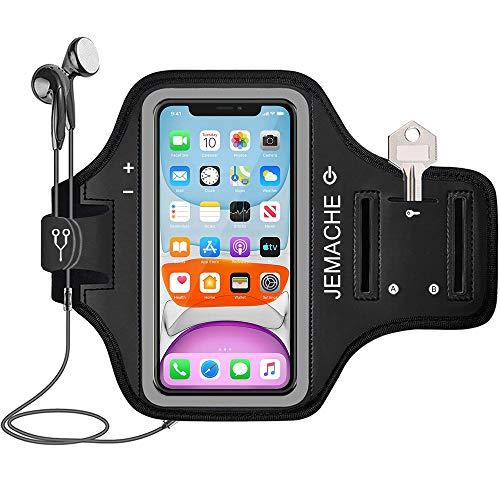 iPhone 11, XR Armband, JEMACHE Gym Laufen Übung Workouts Arm Band Case für iPhone XR, iPhone 11 mit Schlüssel Halter