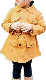 Giacca a Vento Bambina Bambino Unisex Giubbotto Antivento Caldo per Primavera Autunno con Maniche Lunghe Bottoni Lampo Tasche Casual Moda 2-7 Anni