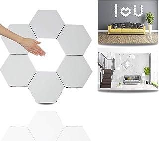 Sechseck Wandleuchte,Smart Touch Modulare LED Licht Wandpanel Flur Nachtlicht DIY Geometrie Spleißen Quantum Leuchte Hexag...