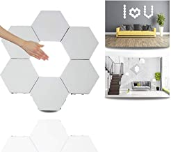 Modular Touch Light,Creative Smart Touch LED Light Panel Removable Hexagonal Wall Lamp DIY Geometry Splicing Hex Light Hon...