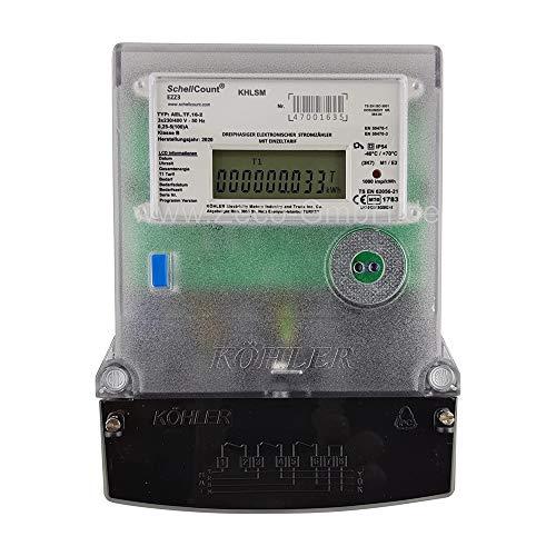 elektronischer Dehstromzähler 100A MID Zulassung bzw. geeicht und für Verrechnungszwecke zugelassen für Zählerkreuzmontage SchellCount EZZ3