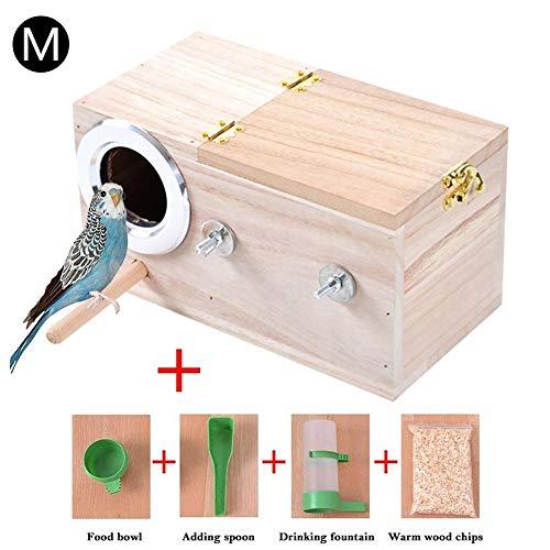 Adminitto88 Sittich Nistkasten Wellensittich Nistkasten House Zucht-Box Für Unzertrennliche, Vogelnest Aus Holz Für Vögel Und Papageien Für Vögel Papageien Wellensittiche Nymphensittiche
