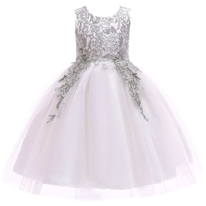 子供のドレス女の子のドレスレースのスクリーン糸花の女の子のプリンセスドレスピアノデモンストレーションパーティーコンサートオープニングセレモニーホスティング結婚式のフラワーガールの競争のドレスのスカート
