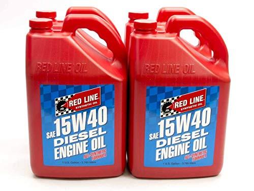 Red Line 21405 15W-40 Diesel Motor Oil - 1 Gallon,(Pack of 4)