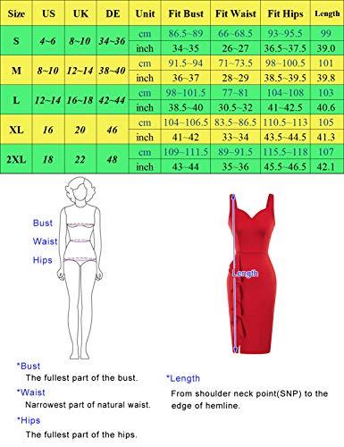 Mujer Vestido sin Mangas Lápiz para Cóctel Fiesta M CL0022S21-2