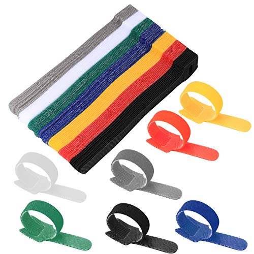 70 Pcs Cable Ties,Cable Tidy Management, Reusable Straps Wire Tidy Ties,...