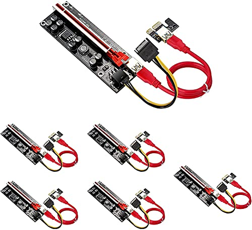 PCIE Riser 1X bis 16X Adapter, V009-Plus...
