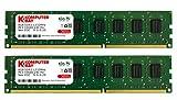 Komputerbay KB_16GB_2X8GB_1333_DIMM_CL9 - Módulo de memoria RAM para ordenador de escritorio dos canales 9-9-9-25 16GB (2x 8GB) PC3-10600 10666 1333MHz DDR3 1333 DRAM DIMM (240 pines)