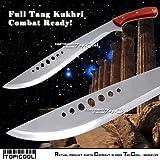 Etrading Full Tang Combat Bolo KUKHRI Machete Fixed Blade Knife Short Sword with Sheath
