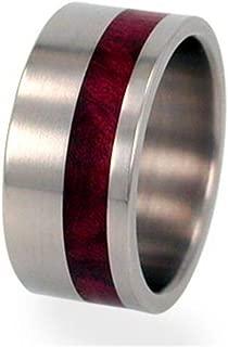 Redwood Inlay 10mm Comfort Fit Titanium Wedding Ring