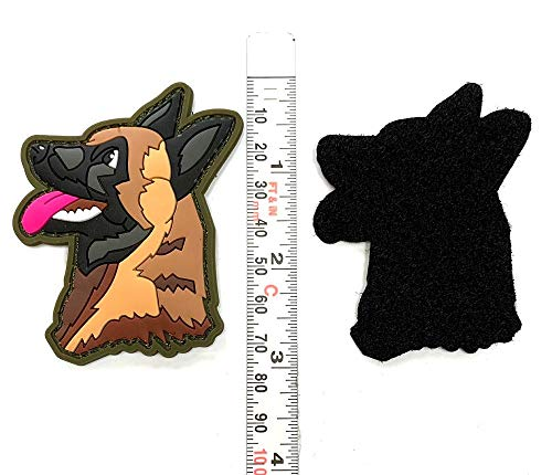 TUFF K9 Tupelo PVC Patch 3' Tall PVC Patch with Hook and Loop Fastener Police Dog Patch