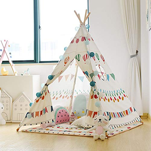 Topashe Large Kids Play House Play Tent,Children's indoor tent, home play house-With cushion,Indoor and Outdoor Teepee Tent for Kids