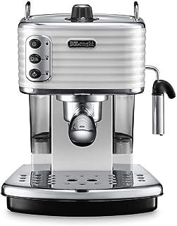 De'Longhi Scultura Pump Espresso Coffee Machine, White, ECZ 351.W, 1