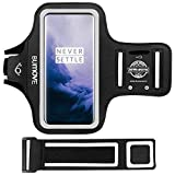 OnePlus 8T 8 7T 7 6T Armband, BUMOVE Gym Running Workouts Sports Cell Phone Arm Band for OnePlus 6/6T/7/7T/8/8T with Key/Card Holder (Black)