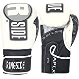 Ringside Apex Flash Boxing Training Sparring Gloves WH/BK, 16 oz