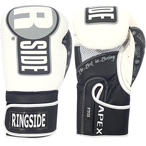 Ringside Apex Flash Boxing Training Sparring Gloves WH/BK, 16 oz