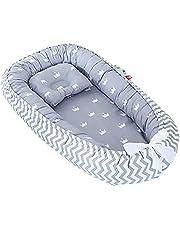 Nido de bebé, cuna para bebé recién nacido, 100% algodón, transpirable, suave y portátil, para dormitorio o viaje