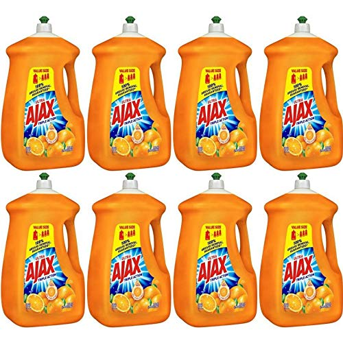 PACK OF 8 - Ajax Ultra Triple Action Liquid Dish Soap, Orange - 90 fl oz