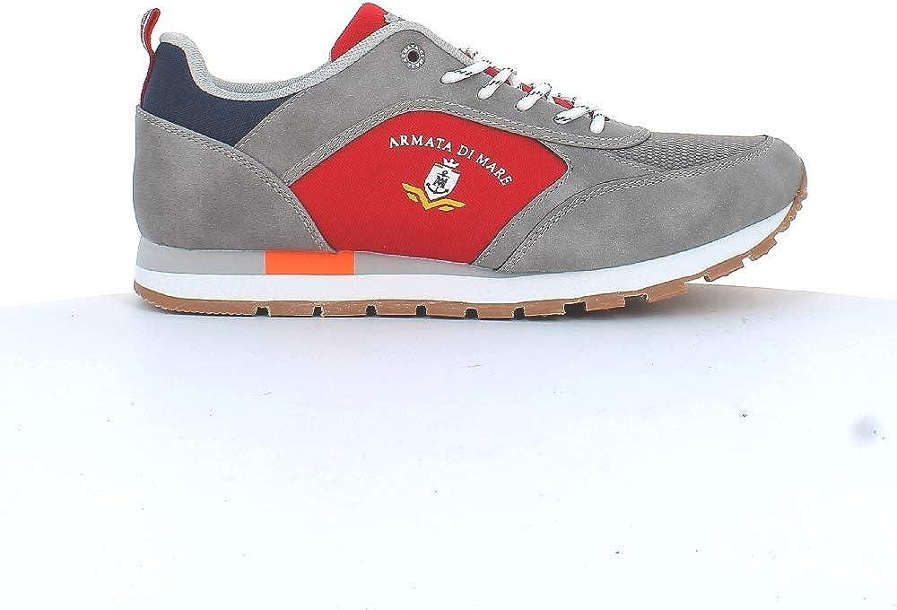 Armata di mare,  scarpe da uomo, sneakers basse, in pelle sintetica AMU P2N041