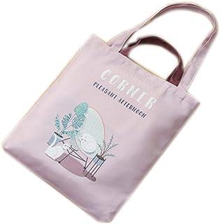 DMZXNWAI Pequeña bolsa de lona fresca con cremallera modelo de trabajo estudiante gran capacidad bolsa de compras bolsa de...