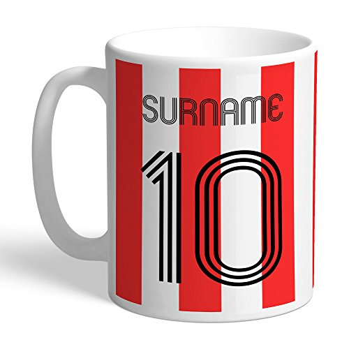 Official PERSONALISED Sheffield United FC Retro Shirt Mug
