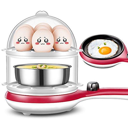 NANXCYR multifunctionele elektrische eierkoker gedempte eierkoker braadpan 14 eieren capaciteit