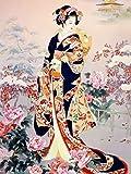 Puzzle 500 Piezas para Adultos,Rompecabezas De Madera sakura mujer japonesa geisha Puzzles Educativos Juguetes Rompecabezas de Piso de Impresión de Alta Definición
