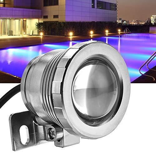 Rehomy Acuario luz LED, luz submarina 12V 5W RGB LED Foco Lámpara Fácil de Montar Fijar para Tanque de Peces Jardín Bajo el Agua