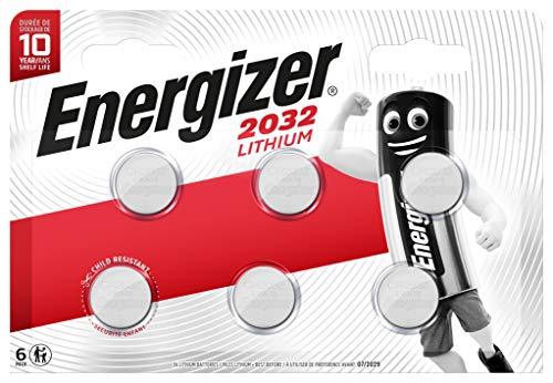 Energizer CR2032 Lot de 6 Piles au Lithium 3 V