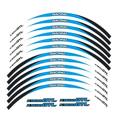 bazutiwns Etiqueta de la Rueda de la Motocicleta Pegatina Remonte Rim Reflectante Compatible con BMW K1600GTL HSLL (Color : 16)