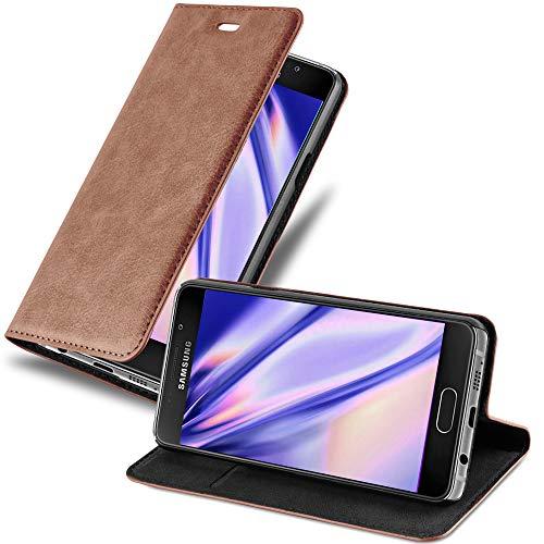 Cadorabo Hülle für Samsung Galaxy A5 2016 in Cappuccino BRAUN - Handyhülle mit Magnetverschluss, Standfunktion & Kartenfach - Hülle Cover Schutzhülle Etui Tasche Book Klapp Style