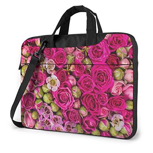 Budding Roses Unisex Laptop Bag Messenger Shoulder Bag for Computer Briefcase Carrying Sleeve
