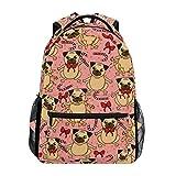 Alarge - Mochila con diseño de perro navideño para viajes, escuela, universidad, bolsa de hombro, camping, senderismo, portátil