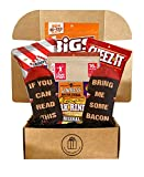 Bacon Gift Basket For Men and Women - Bacon Gifts Box with Maple Bacon Bites, Bacon Socks, Bacon Candy, Bacon Curls And More Bacon Stuff - Bacon Gifts Box (Bacon Lovers Snack Box)