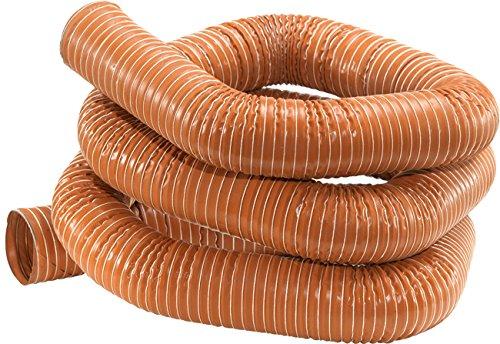 Articolo fumisteria Linea'Pellet':Tubo flex rosso in silicone per alte temperature (-60°C +270°C), 4 M