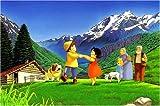 1000ピース ジグソーパズル アルプスの少女ハイジ 牧場のダンス (50x75cm)