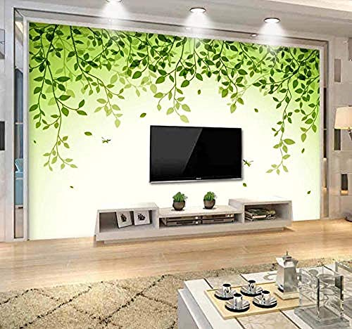 Green Leaves Modern Minimalist for Walls Murals Wallpaper Custom 3D Wallpaper Paste Living Room The Wall for Bedroom Mural border-350cm×256cm