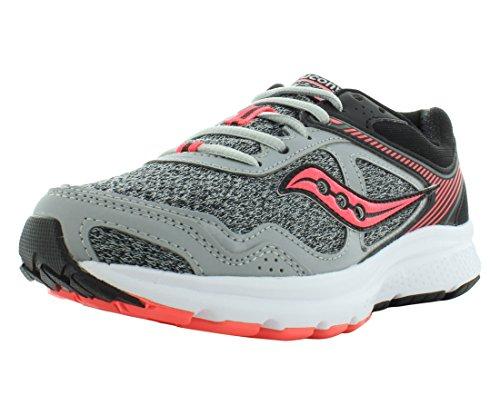 Saucony Women's Cohesion 10 Running Shoe, Grey Coral, 8.5 Medium US