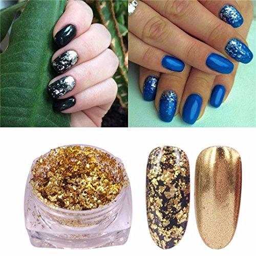 Hunpta Paillettes Flocons en aluminium effet miroir magique des poudres Paillettes Vernis à ongles