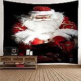 KnBoB Tapiz para Pared Bolso de Santa Claus 150 x 150 CM Tapiz Poliéster Impresión Digital Decoracion Salon Modernos