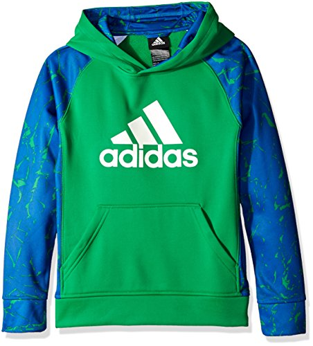 adidas Big Boys' Active Hoodie, Green/Collegiate Royal, X-Large/18
