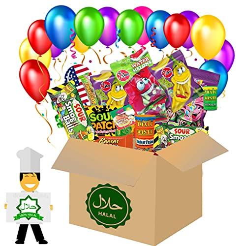 HappyLOL® Halal USA Box 25 Teile amerikanische Süßigkeiten Box Candy Mix Süßigkeiten aus aller Welt