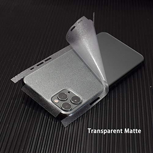 SCBJBZ Pegatinas Transparentes de Fibra de Carbono 3D Skin Wrap Skin Phone Back Sticker para iPhone 11 Pro XS MAX XR X 8 7 6 6S Plus Clear Sticker para iP11 Pro MAX Clear Matte